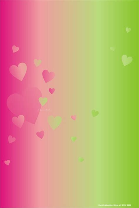 green and pink background theme hearts pink green my celebration shop
