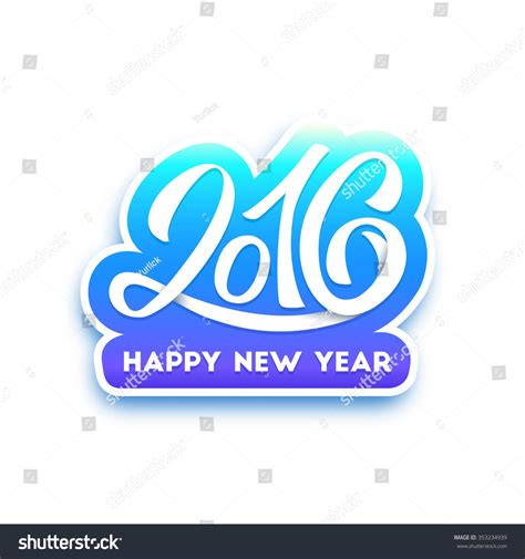 new year greeting card text happy new year 2016 typography greeting stock illustration