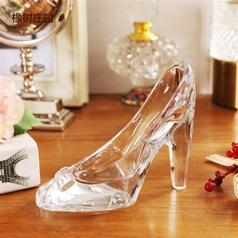 hot fashion simple nordic style cinderella glass slipper