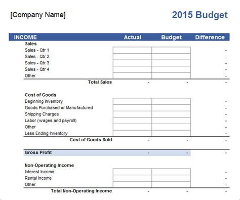 business template free business budget template 13 free documents in