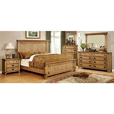 Country Style King Bedroom Sets by Pioneer Country Style Weathered Elm Finish King Size 6
