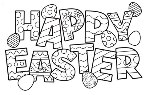 happy easter coloring pages free easter colouring pages the organised