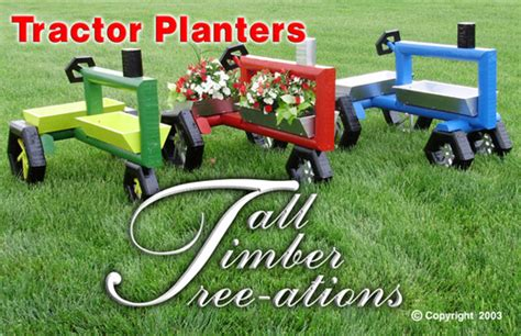 wooden tractor planter plans plans diy free free
