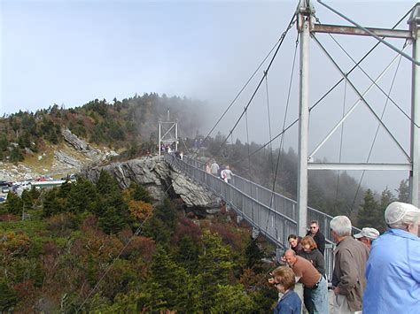 grandfather mountain mile high swinging bridge 100 years of nc state parks grandfather mountain