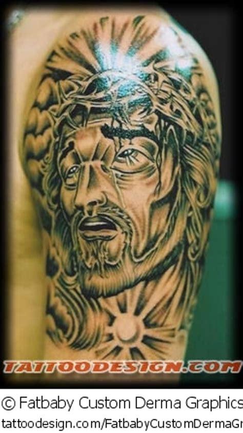 new school jesus tattoo 55 amazing christian shoulder tattoos