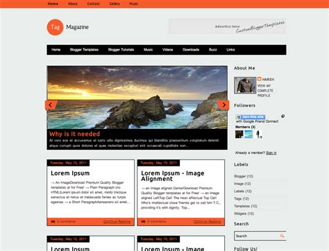 Templates For Google Blogger | google blogger templates eskindria com