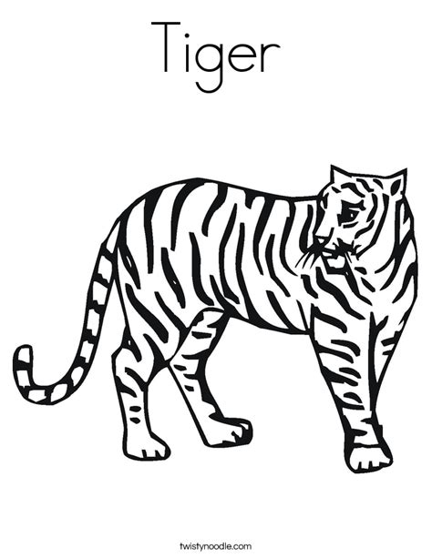 tiger coloring page twisty noodle