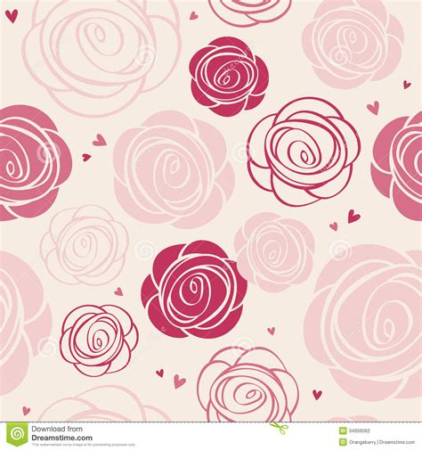 svg rose pattern seamless roses pattern stock vector illustration of card