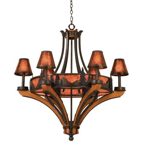 aspen forest silhouette light aspen 6 light chandelier treescape kalco
