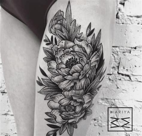 japanese peony tattoo black and grey 10 gorgeous black and grey peony tattoos tattoodo