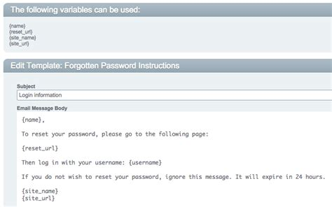 password change email template cartthrob forgot password email notification not