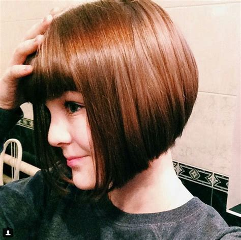 long inverted bob hairstyle with bangs photos 22 cute inverted bob hairstyles popular haircuts