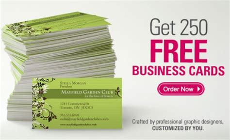 Vista Free Business Cards