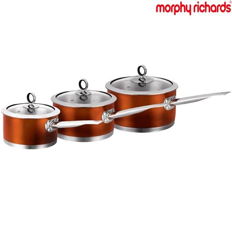induction cooking set morphy richards accents 3 induction saucepan frying pan cooking pot set ebay