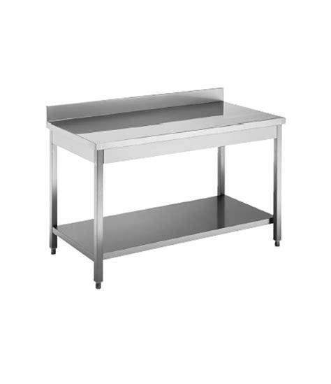 tavolo acciaio inox usato tavolo acciaio inox c ripiano e alzatina dim cm 150 70