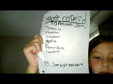 animal jam codes youtube