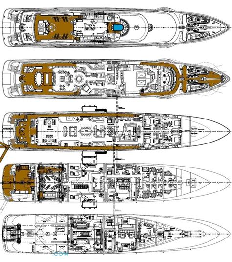 luxury yacht floor plans anastasia layout oceanco motor yacht superyachts com