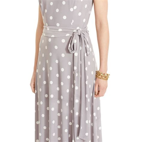 Gray Sleeveless Two Dress ralph polka dot sleeveless dress in gray lyst