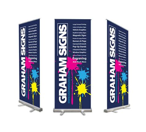 pull up and roller banners in worcestershire herefordshire graham signs