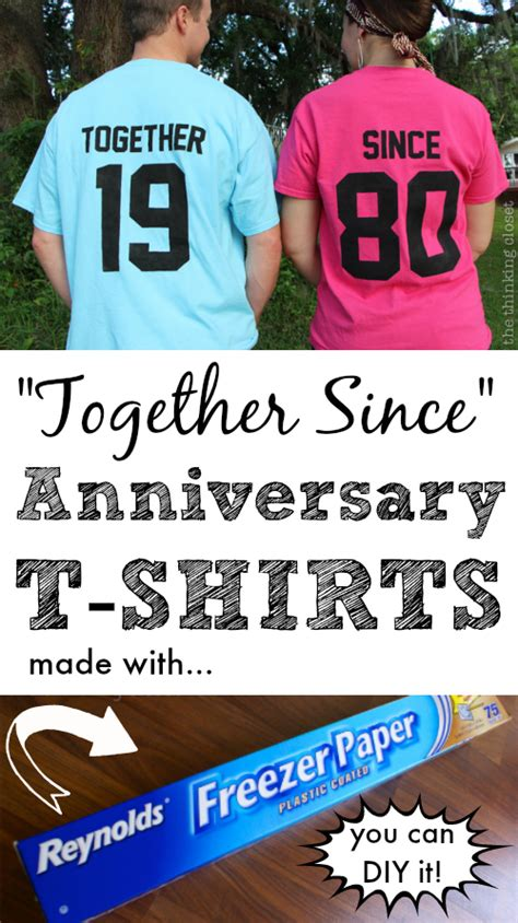 together gift ideas together since t shirts creative anniversary gift idea