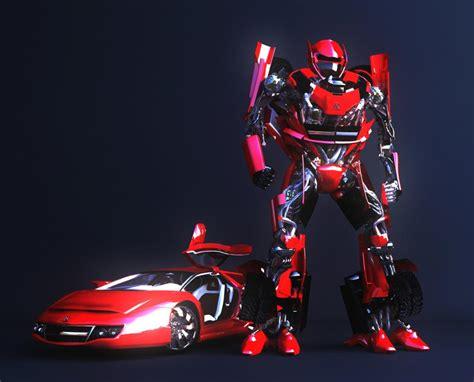 Tobot Car To Robot Robot To Car 16 Cm Merah robot car by clelio 3d artist