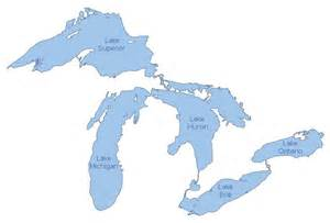 map of lakes the great lakes god s geography