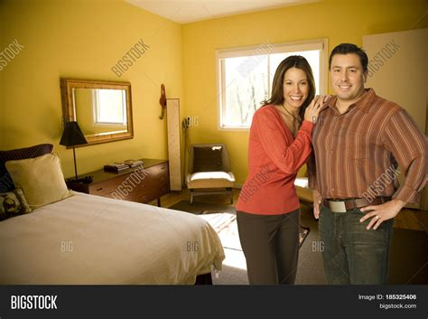 photos of husband and wife in bedroom husband wife standing bedroom image photo bigstock