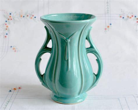 Mccoy Vase by Mccoy Pottery Vase In Aqua Vintage