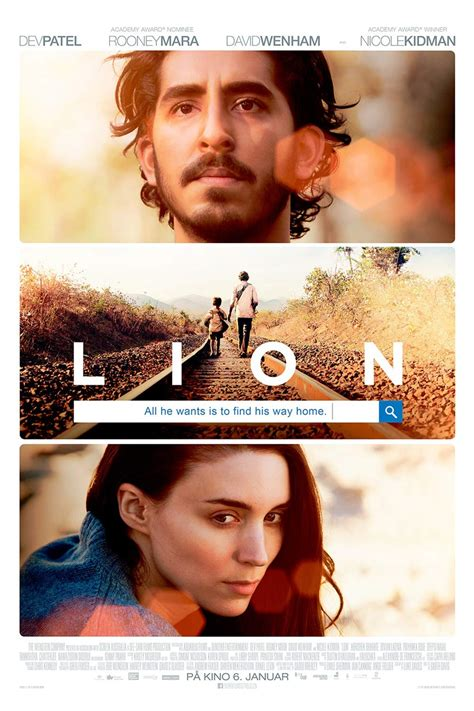 lion film com lion 2016 poster 1 trailer addict