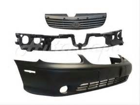 97 99 chevy malibu front bumper header panel grille 3pc ebay