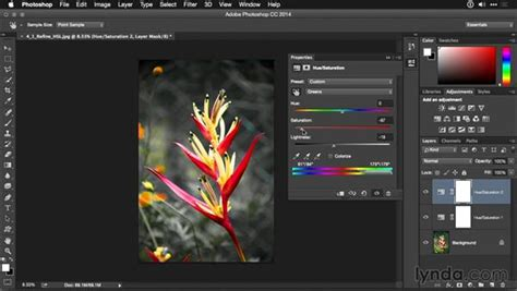 photoshop cs5 hue saturation tutorial refining a hue saturation adjustment layer with the on