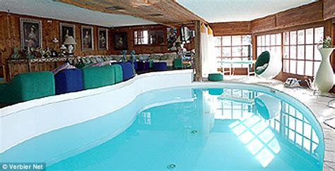 swimming pool inside bedroom prince harry and cressida s ski retreat seven bedroom
