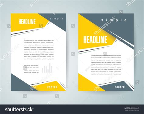 brochure design template vector flyer action stock vector