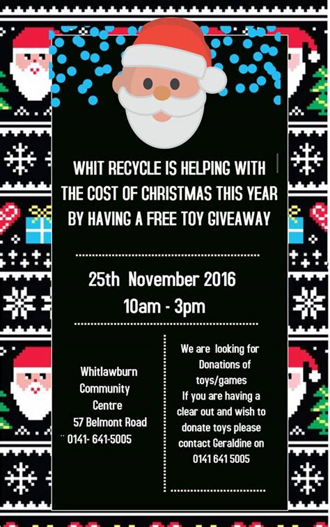 Free Toys Giveaway - toy giveaway west whitlawburn housing co operative ltd