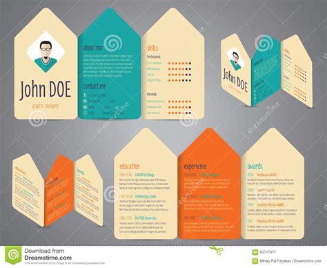 Flyer Design Cv Resume Template Stock Vector Illustration Of Employee Curriculum 63717977 Curriculum Flyer Template