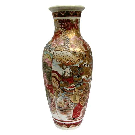 Satsuma Vase Value Large Satsuma Vase Samurai Scholars Antique Meiji Era