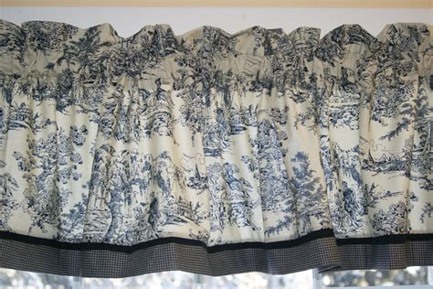 Toile Valances black beige colonial tradition scenic toile valance 17