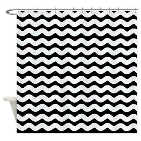 chevron shower curtain black and white black and white wavy chevron shower curtain by patternedshop