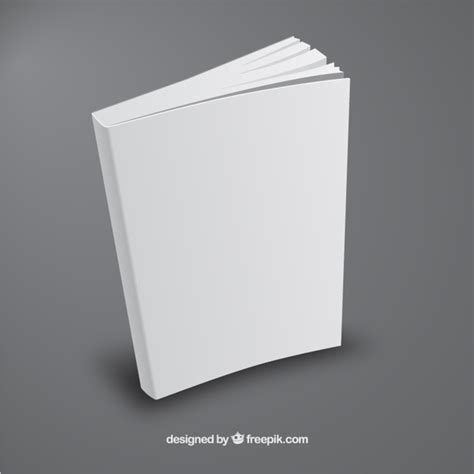 Book Template In by White Book Template In Perspective Vector Free