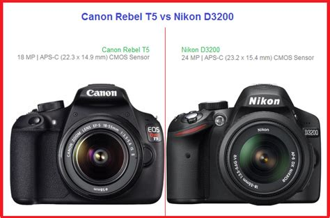 nikon rebel canon rebel t5 vs nikon d3200