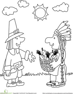 coloring pages for the first thanksgiving 13 best images of pilgrim kindergarten worksheets