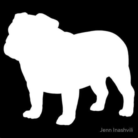 bulldog silhouettes unisex  shirt silhouettes