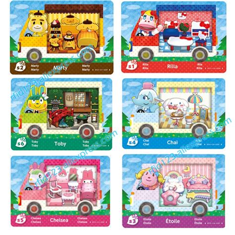 animal crossing nfc card template 6pcs nfc card ntag215 printing card for animal crossing x