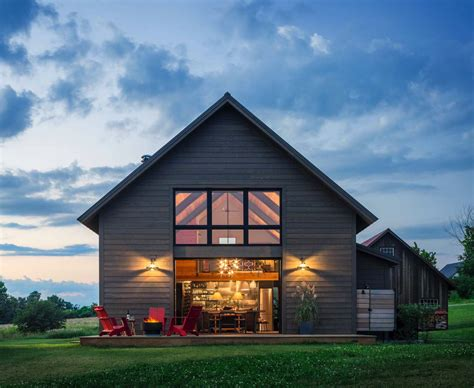 contemporary barn small and cozy modern barn house getaway in vermont