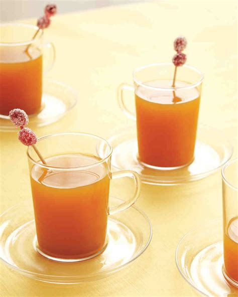 apple cider with sugared cranberries