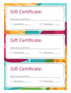 free printable gift certificate template doc 495640 gift certificate format free gift
