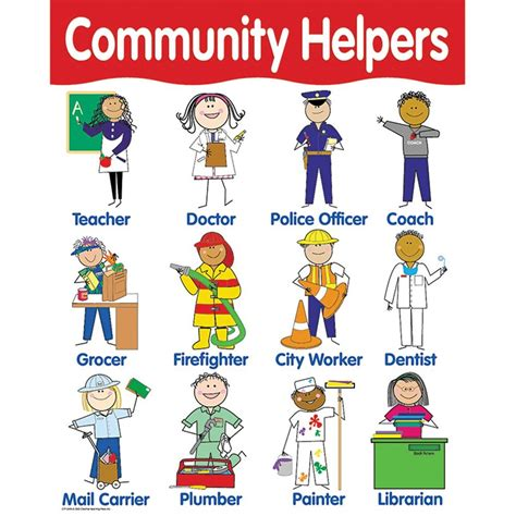 Indian Decorations For Home Chart Community Helpers Ctp5694 Creative Teaching