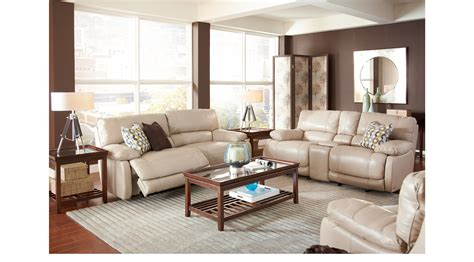 cindy crawford home leather sofa 2 788 00 auburn hills taupe grayish brown leather 3
