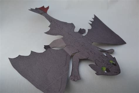 Toothless Origami - papercraft toothless how to your diy