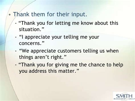 thank you letter to for giving me phrases for customer service angry customers